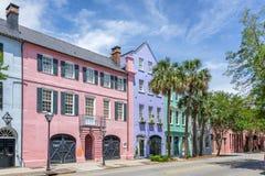 Free Rainbow Row In Charleston Stock Image - 118169871