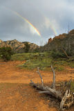 Rainbow and Ruins Royalty Free Stock Images