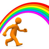 Rainbow Run Away Royalty Free Stock Photos