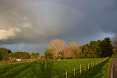 Rainbow in Rural Chile Stock Photography