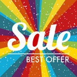 Rainbow sale label Royalty Free Stock Photo