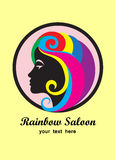 Rainbow saloon logo Royalty Free Stock Photo