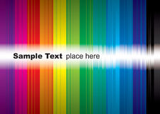 Rainbow sample Royalty Free Stock Photography
