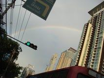 Rainbow on Sathorn, Bangkok. Thailand Stock Image