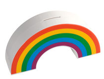 Rainbow savings box Stock Photography