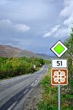 Rainbow on scenic road 51 at autumn Stock Photography