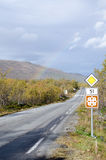 Rainbow on scenic road 51 fall Stock Photography