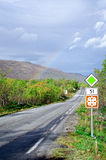 Rainbow on scenic road 51 vertical Royalty Free Stock Photo