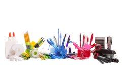 Rainbow School Supplies Royalty Free Stock Image