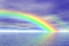 Rainbow in the sea Stock Photography