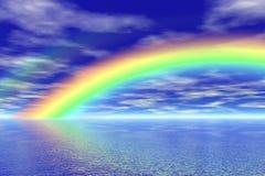Rainbow in the sea Stock Image