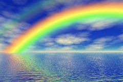 Rainbow in the sea Stock Photos