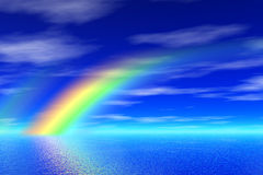 Rainbow in the sea royalty free illustration