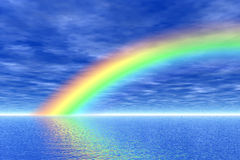 Rainbow in the sea Royalty Free Stock Images
