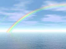 Rainbow in the sea Stock Images