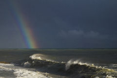 Rainbow on the sea Royalty Free Stock Photo