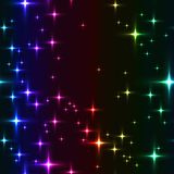 Rainbow seamless background with shining stars. Stock Photography