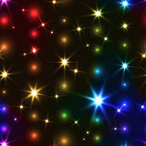 Rainbow seamless background with shiny Christmas chain Royalty Free Stock Photography