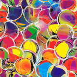 Rainbow seamless pattern with grunge circles Stock Images