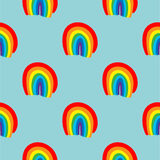 Rainbow seamless pattern vector hand drawn Royalty Free Stock Photo