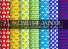 Rainbow seamless patterns Royalty Free Stock Image