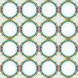 Rainbow  seamless retro pattern Royalty Free Stock Photo