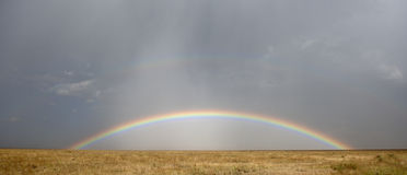 Rainbow at the Serengeti National Park Royalty Free Stock Photos