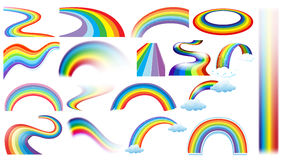Rainbow set Stock Photos