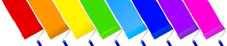 Free Rainbow Set Of Paint Roller Royalty Free Stock Photography - 90875007
