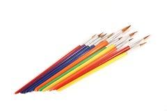 Rainbow set of paintbrushes Royalty Free Stock Images