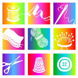 Rainbow sewing Royalty Free Stock Photos