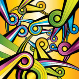 Rainbow shape colorful wallpaper Royalty Free Stock Image