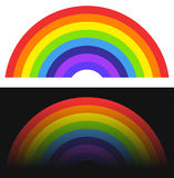 Rainbow shape / element with normal and fading version. Royalty free vector illustration Stock Photo