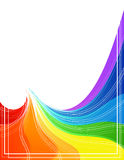 Rainbow shapes Royalty Free Stock Photo