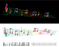 Rainbow sheet music Royalty Free Stock Photo