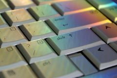 Rainbow Shift Key stock photo