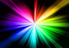 Rainbow Shine. A rainbow star-like shine emitting from the center of the picture Stock Images