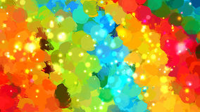 Rainbow shine brush strokes background. Vector version Stock Image
