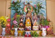 Rainbow-shine mythological statue Royalty Free Stock Images