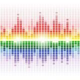 Rainbow shining digital equalizer on white Stock Photo