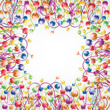 Rainbow shinny flower boll glossy background. There is a luxury color ball background stock illustration