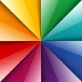 Rainbow shiny folded paper triangles background Royalty Free Stock Photo