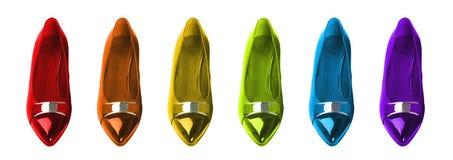 Rainbow Shoes Royalty Free Stock Photo