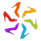 Rainbow Shoes Stock Images