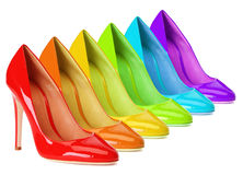 Rainbow Shoes Royalty Free Stock Images