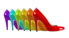 Rainbow Shoes Stock Photography