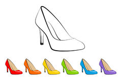 Rainbow Shoes Stock Photo