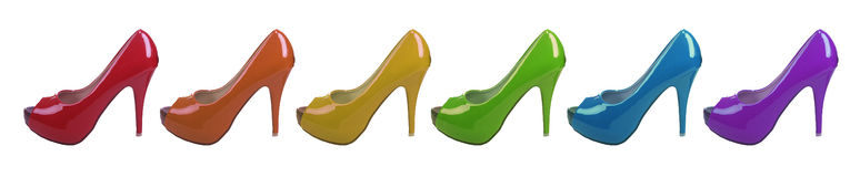 Rainbow Shoes Royalty Free Stock Photography