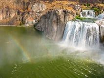 Rainbow in Shoshone Falls Idaho Royalty Free Stock Photos