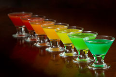 Rainbow shots Stock Photo